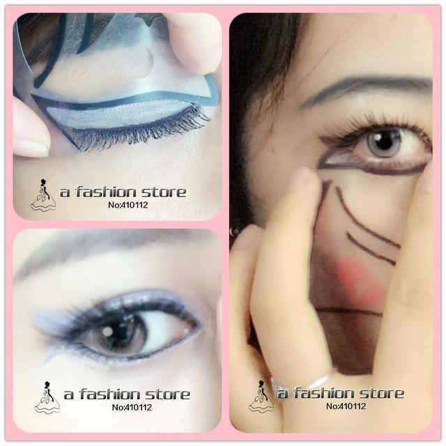 Aliexpress.com : Buy Quick Makeup Eye Stencil 7 Styles Cat ...