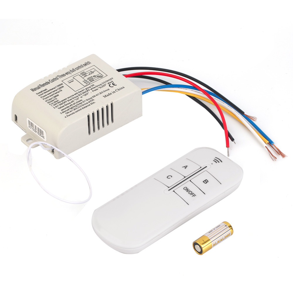 220V 3 Way ON/OFF Digital RF Remote Control Switch Wireless For Light Lamp Worldwide Store Brand New купить