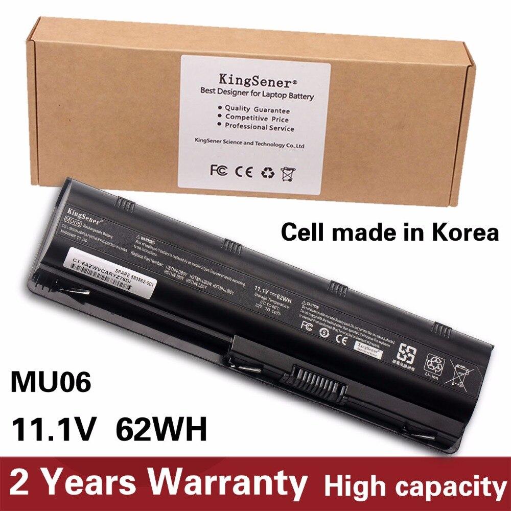 KingSener Korea Cell New MU06 Battery For HP 430 431 435 630 631 635 636 650 655 CQ32 CQ62 G32 G42 G72 G56 G62 G7 DM4 593553-001 us black border new english replace laptop keyboard for hp 635 655 650 630 636 g4 1016tx 1017tx 1058tx 1104ax 1236tx 1208 1351