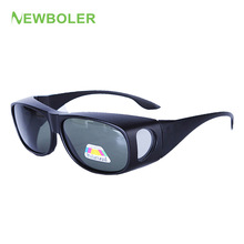 NEWBOLER Men Women Polarized Lense Fishing Sunglasses Cover For Myopia Glasses Eyewear Sun Glasses Oculos De Sol Masculino
