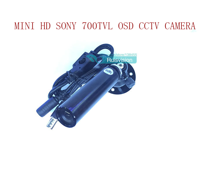 HD Sony 960H 700TVL 1/3 Sony Effio-e CCD Waterproof Mini Surveillance Bullet Security Analog CCTV Camera with osd menu Free ship mini bullet cvbs ccd camera 700tvl with headset mount for mobile surveillance security video 5v
