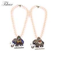TengMaxi Bohême Éléphant Motif Colliers et Pendentifs Mode Foulard Collier de Perles Exquis Bijoux Accessoires Cadeau