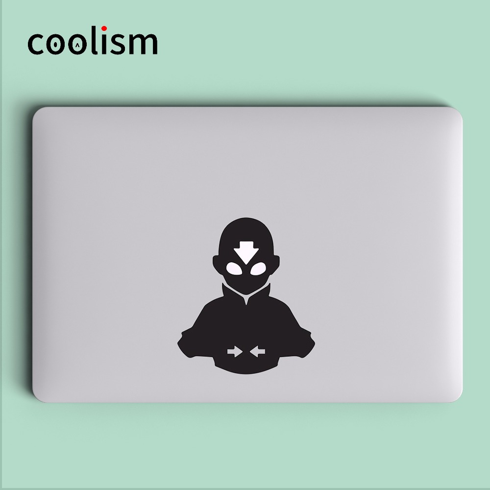 The Last Airbender Avatar Anime Computer Laptop Decal Sticker for MacBook Air/Pro/Retina 11 12 13 15 Cover Skin on Notebook