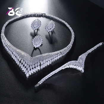 Be 8 Fashion Wedding Jewelry Accessories Nigerian Jewelry Sets for Women New Copper Pendant Statement Brand Jewelry Sets S225
