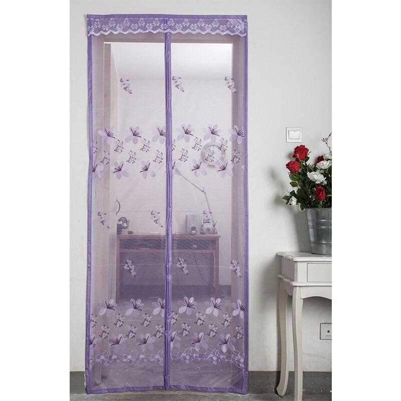 Moustiquaire moustiquaire porte aimants été Anti mouche rideau pour porte insecte fermeture automatique cuisine maille rideaux mosquitera