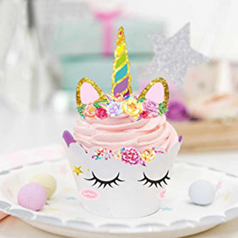 Detail Feedback Questions About 24Pcs Unicorn Party Kit Rainbow Cake