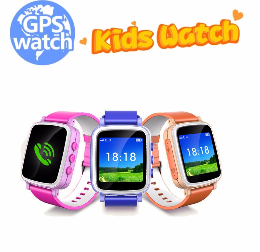 Hot Kid GPS Smart Watch Wristwatch SOS Call Location Finder Locator Device Tracker for Kid Safe Anti Lost Monitor Baby Gift Q80