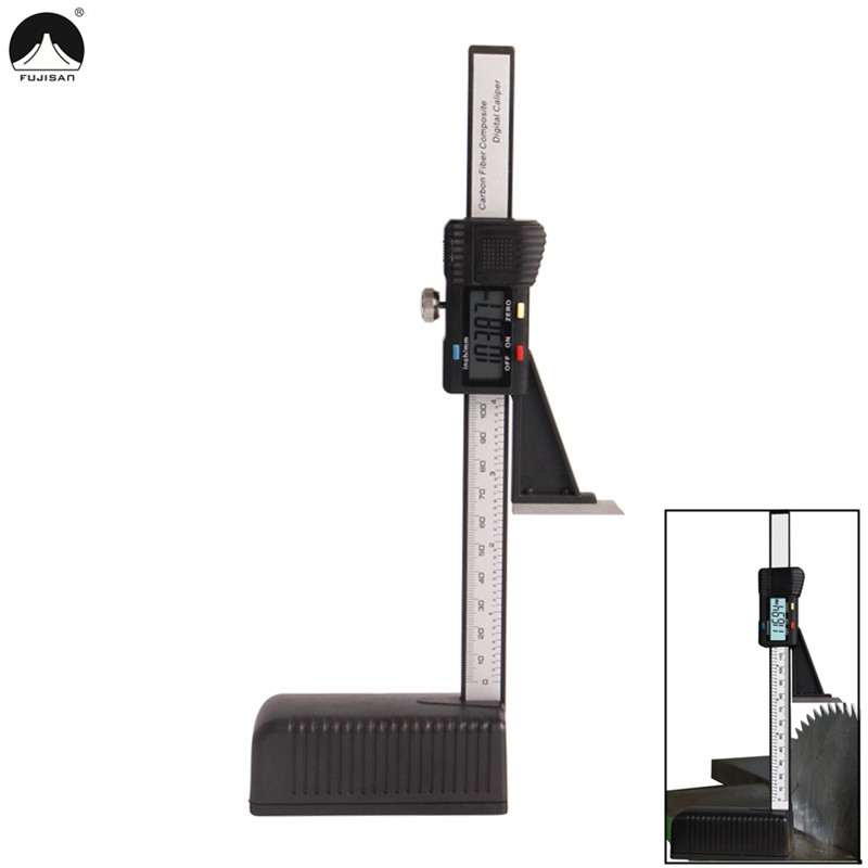 "FUJISAN Plastic Digital Height Gauge 0-150mm/6"" Digital caliper Electronic Guage Measurement Instruments Measuring Tools"