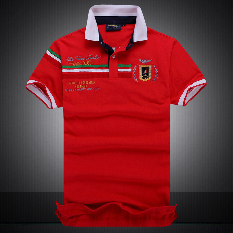Mens   Polos   Shirt 100% Cotton Militare Male   Polos   Shirts Air Force One Short Sleeve   Polo   Para Hombre   Polo   Tops Europe Size