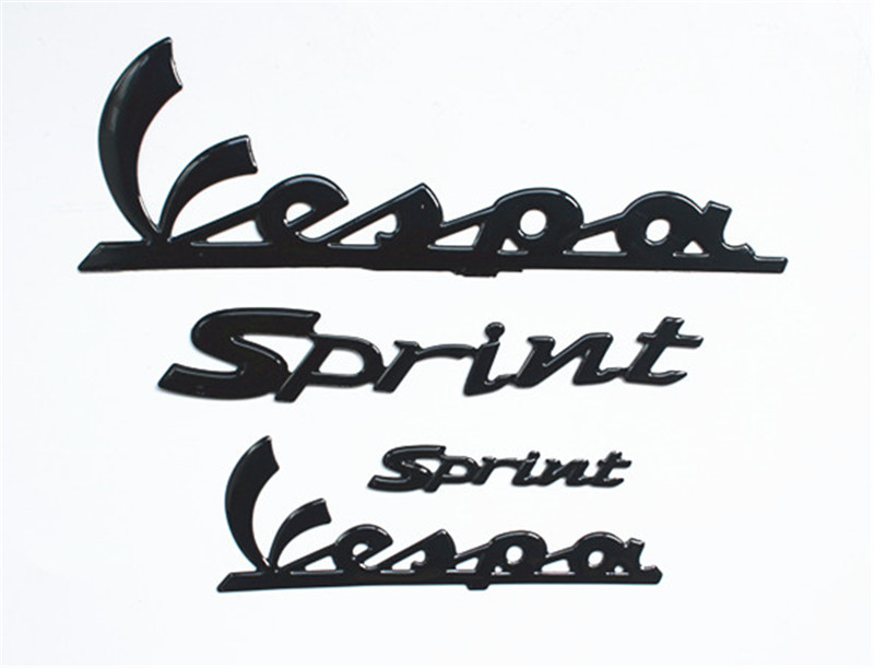 3D Black Sticker Decal Fit For Vespa Sprint