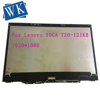 with frame 12.5B125HAN02.2 lcd screen +touch screen assembly For Lenovo YOGA 720 12IKB YOGA 720 12 720 12 assembly