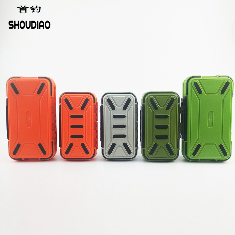 SHOU DIAO 32 Plaid Double High Quality ABS Plastic Fly Fishing Bait Hook Storage Box Waterproof Fish Accessories
