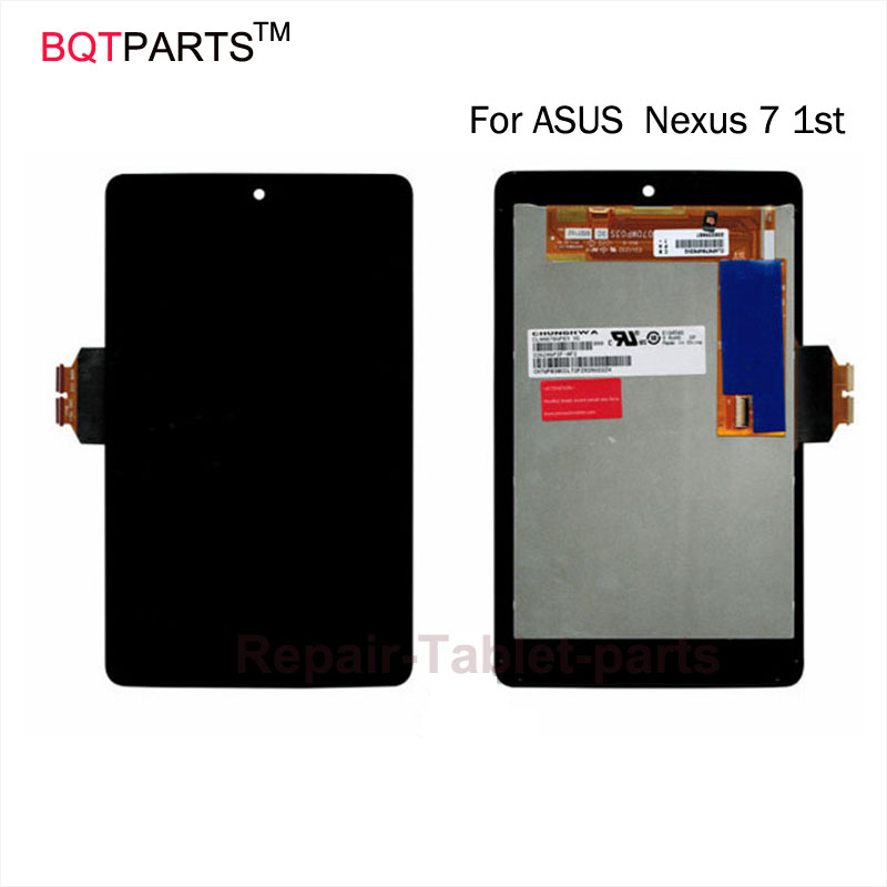BQT 100% tested Full new LCD display+Touch Digitizer Screen for ASUS Google Nexus 7 1st Gen nexus7 2012 ME370 ME370T ME370TG