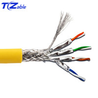 40Gbps 2000MHz Cat8 SFTP Dual Shielded Network Cable Support POE 100W Ethernet Cable 5M 10M 30M 50M 100M