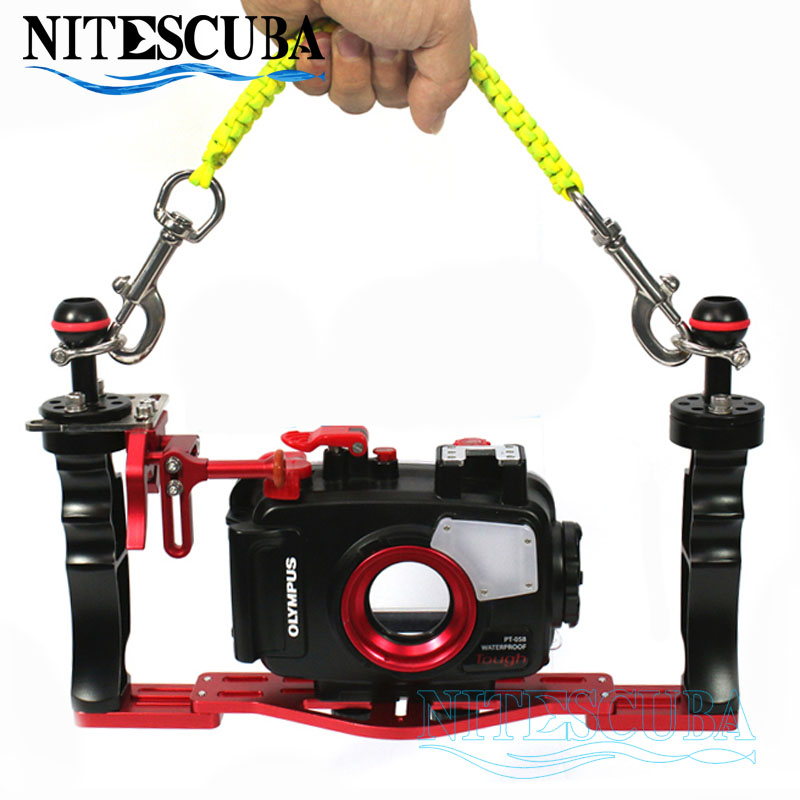 NiteScuba Diving camera handle tray grip bracket carrier holder for TG5 rx100 Nauticam housing case Underwater Photography