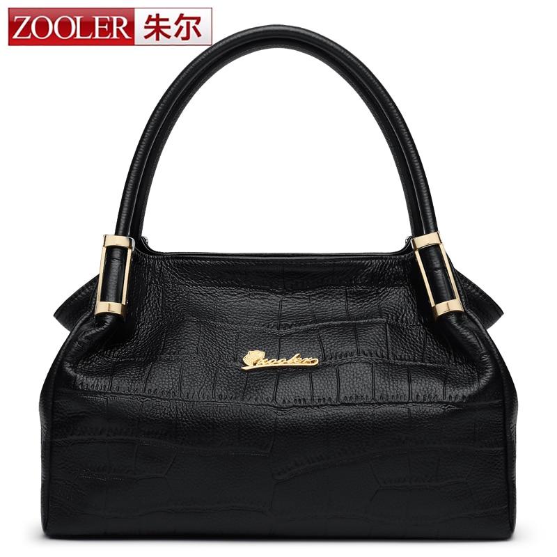 Hot ,Guarnteened 100% cowhide luxury women bag ZOOLER 2016 brands top handle bag genuine leather bag hot bolsa feminina#2935