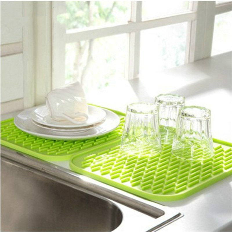 Rack Pot-Holder Dishes-Cup Kitchen-Sink-Mat Heat-Resistant Silicone Coaster Placemat