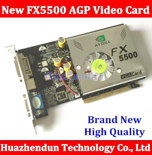 Free Shipping Direct from Factory NEW Quadro GeForce FX5500 256MB DDR AGP 4X 8X VGA DVI Video Card With CD