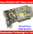 Frete Grátis Direto da Fábrica NOVA Quadro GeForce FX5500 256 MB DDR AGP 4X 8X VGA DVI Placa De Vídeo Com CD