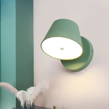 Nordic Wall Lamp Iron Bedside LED Creative living room Aisle Stairs Childrens Desk Reading bedside Lighting bra