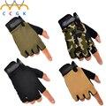 Luvas de Tiro Tático Militar Ao Ar Livre Das Forças Especiais do exército Airsoft Meia Luvas de Dedo Antiderrapante Luvas Sem Dedos LUVA de Combate Da Polícia