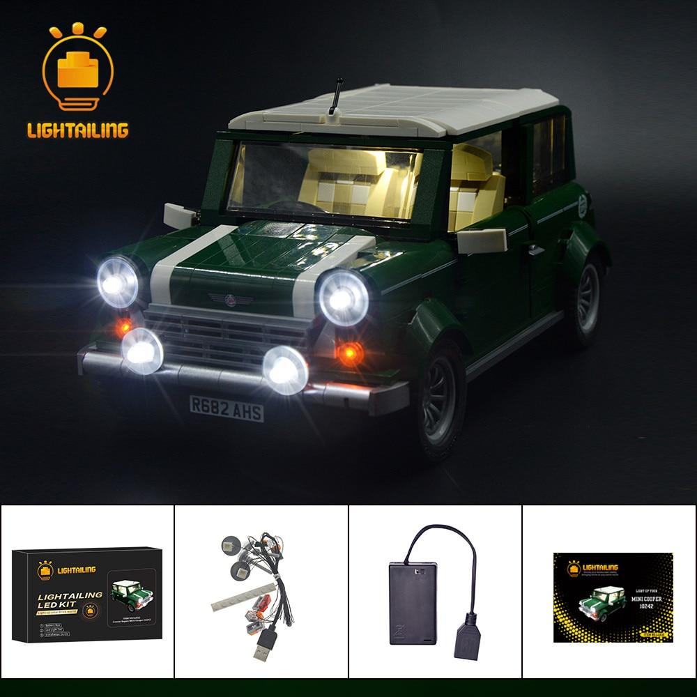 LIGHTAILING Led Light Up Kit For Mini Cooper Model Building Block Light Set Compatible With 10242
