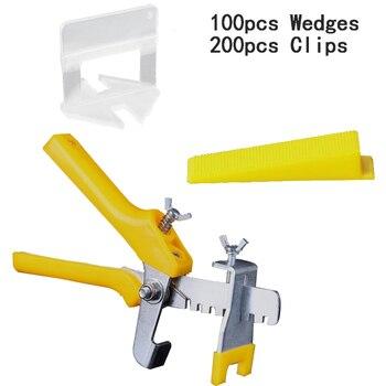 Ceramic Floor Tile Leveling system Tile Equalizer 100 Wedges 200 Clips Pliers Construction Tools Tile Spacers Carrelage Levelin
