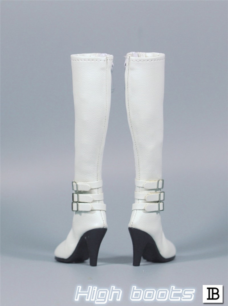 In-Stock 1//6 Scale Female Boots ZY1008 Knee High Leather Female For Hot toys