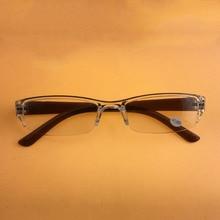 Для мужчин Для женщин прозрачные очки для чтения ультра-легкие переносные очки Пластик объектив дальнозоркость 1,0 1,5 2,0 2,5 4,0 R163