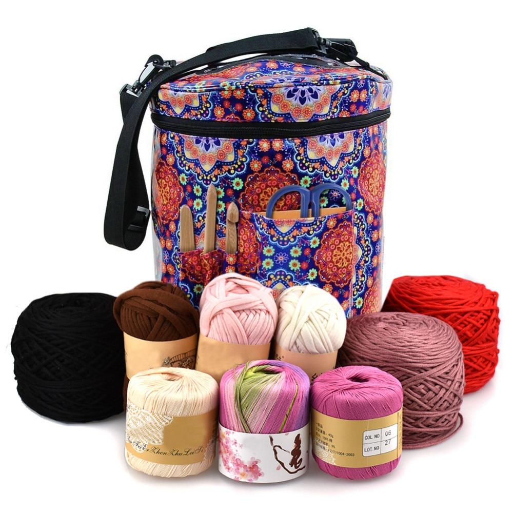 Portable Yarn Holder Tote Caseyarn Storage Bag Organizer With Divider For Crocheting Knitting Organization Arts, Crafts & Sewing Storage S L
