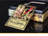 Classic Van Gogh Flowers Theme Metal Bookmark 4 3 6 4cm Limited Edition Colorful Book Marker