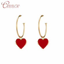 CANNER Korea Circle Ear Ring Earrings for Women Female Hip Hop Hoop Simple Round Loop Earring Fashion Jewelry Oorbellen