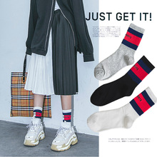 New cotton socks letters street tide in the tube skateboard sports fashion breathable