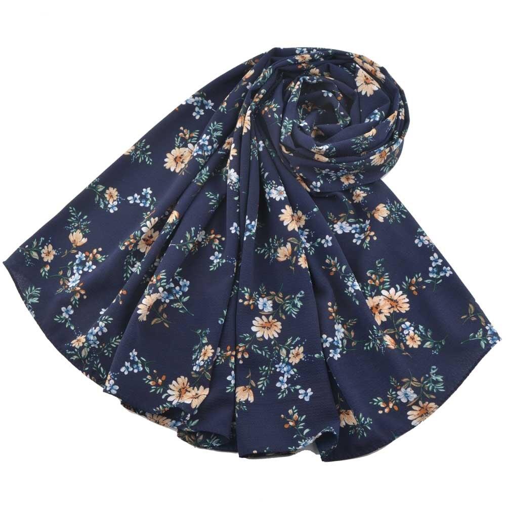 Printe Bubble Chiffon Floral Scarf,muslim Hijab,muslim Scarves Chiffon Instant Flower Shawls,beach Scarf Foulard Femme,head Wrap