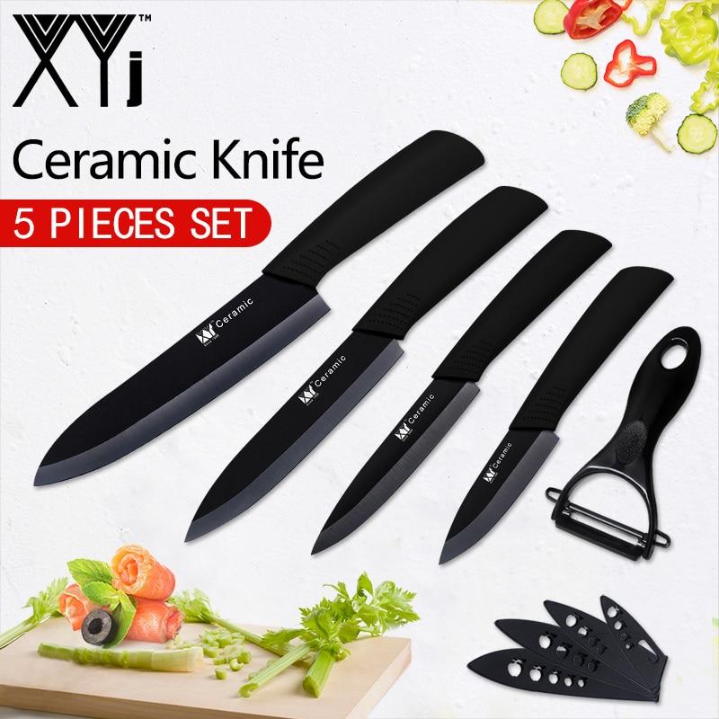 XYj Küche Messer Neue Ankunft Schäl Utility Slicing Chef Keramik Messer Obst Veg Fleisch Sushi Fisch Sashim Kochen Werkzeuge + schäler