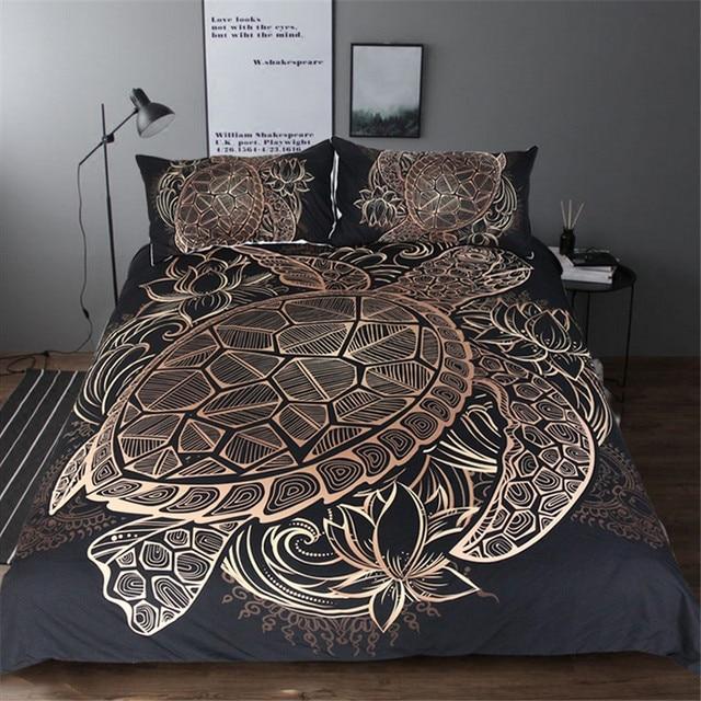 Turtle shell bedding set (3 pcs)