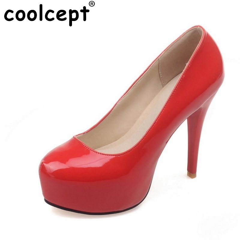 8af03eb5be7 US $54.88 |women stiletto high heels water proof ladies shoes round toe  brand quality fashion pumps heels wedding shoes size 34 40 PB00007-in  Women's ...