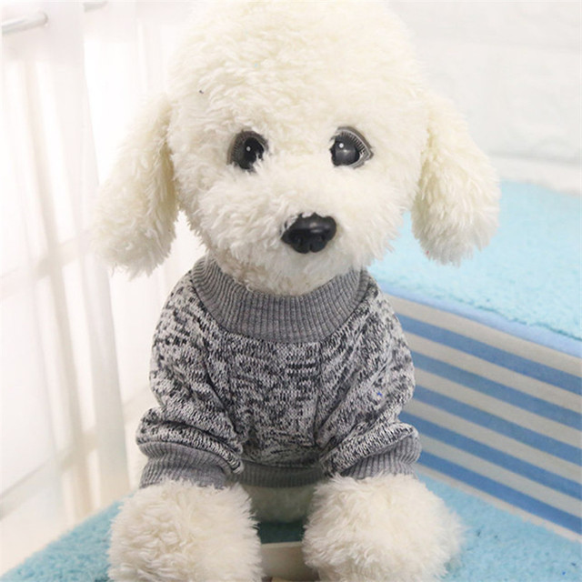 Classic Dog Clothes Warm Puppy Outfit Pet Jacket Coat Winter Dog Clothes Soft Sweater Clothing For Small Dogs Chihuahua noDC5 5