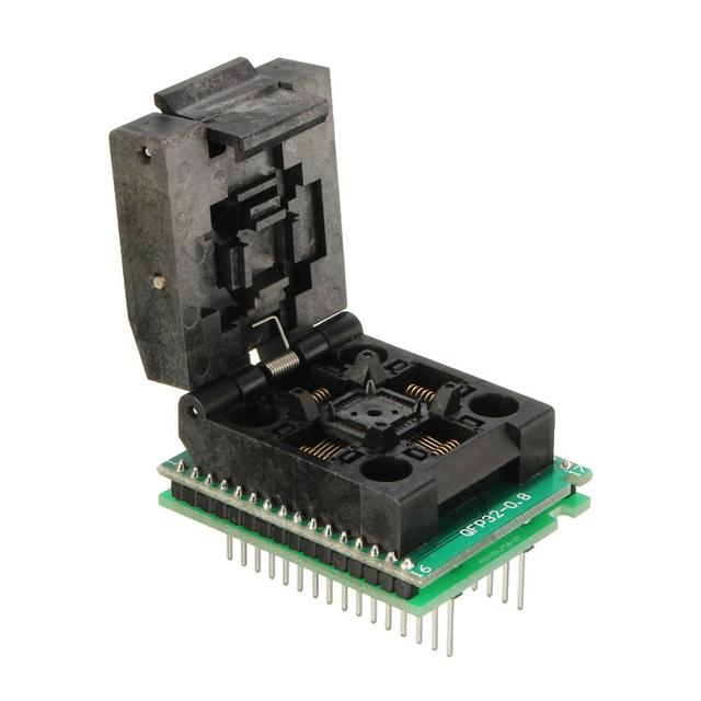 Flap PQFP32 TQFP32 QFP32 A DIP32 Programador Socket Adaptador Universal Convertidor de Envío Gratis