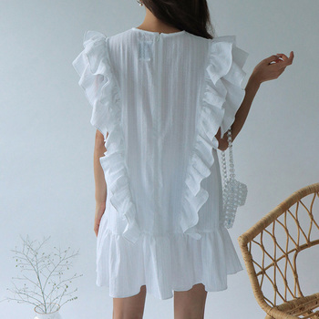 Ruffle Butterfly Sleeve Shirt for Women Online