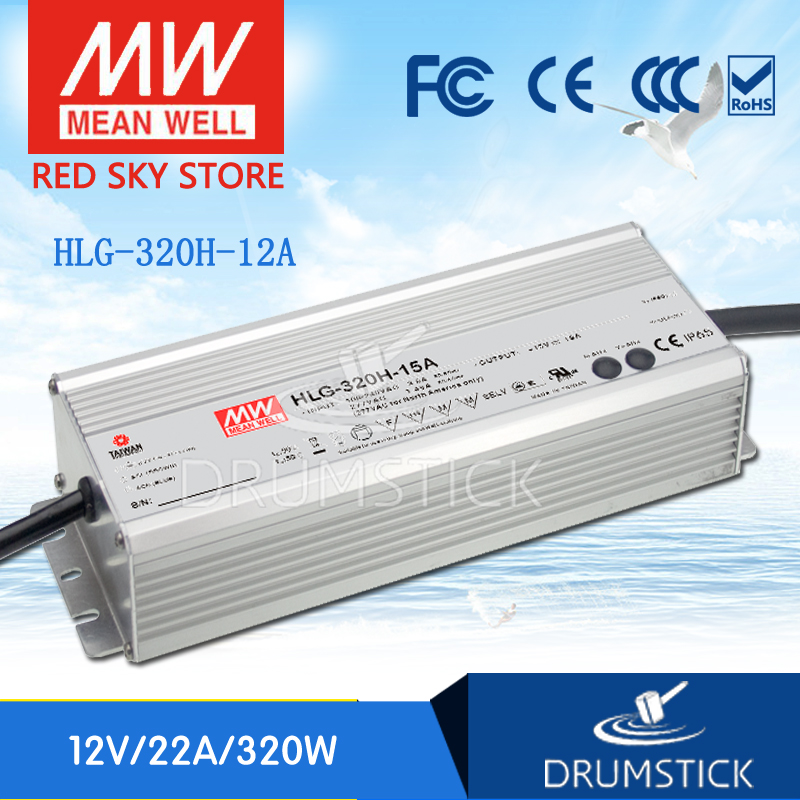 (Only 11.11)MEAN WELL HLG-320H-12A (1Pcs) 12V 22A meanwell HLG-320H 264W Single Output LED Driver Power Supply A type цена