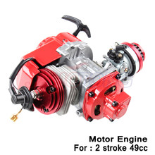 Moteur à refroidissement à air 2 temps 49cc, avec bougie d'allumage en iridium C7, vilebrequin HP à cercle complet et carburateur de course, vente en gros d'usine
