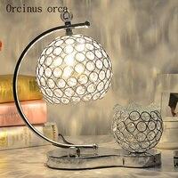 الأوروبية الفاخرة الكريستال لمبة مكتب أباجورة غرفة نوم الإبداعية شخصية الروائح اللون LED لمبة مكتب الكريستال|مصابيح طاولة LED|   -