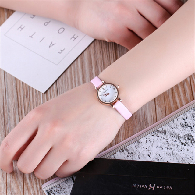 Fashion Elegant Women Watches Waterproof Ladies Small Dial Leather Band  Silver Wrist Watch 2018 Casual Watches Relogio Feminino