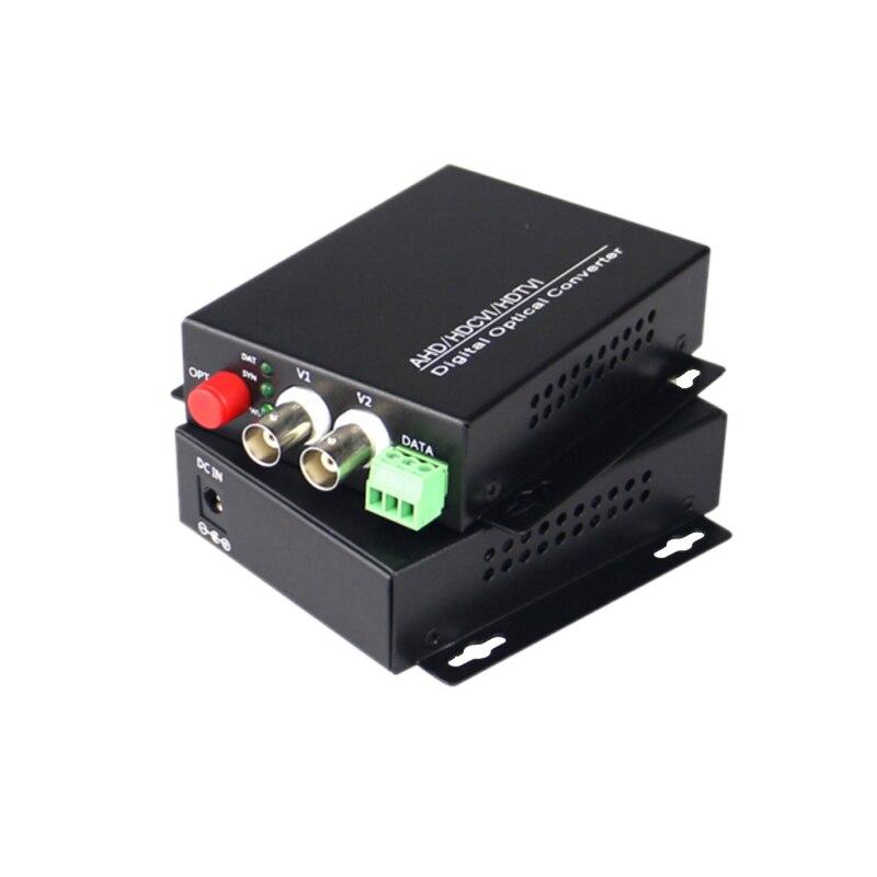 2 канала 720 P/960 P HD CVI/AHD/TVI конвертер волоконно оптический BNC цифровой видеопреобразователь оптоволоконный передатчик и приемник - 2