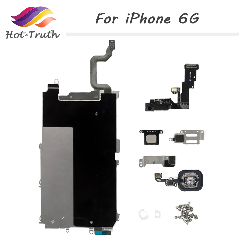 Spare Parts for Apple iPhone for iPhone 6 6G Full Set Home Button+Speaker+Flex Cable+Front Camera Free Shipping Factory On Sale