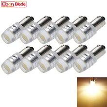 10Pcs BA9S BAX9S BAY9S Led-lampen Warm Wit Cob Auto Indicator Dome Kaart Richtingaanwijzer Parking Light Lampen 6V 12V Dc Auto Styling