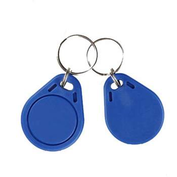 50pcs 13.56MHz IC M1 Keyfobs Tag Tags Access Control RFID Key Finder Ring Card Token Attendance Management Keychain Mix-Color