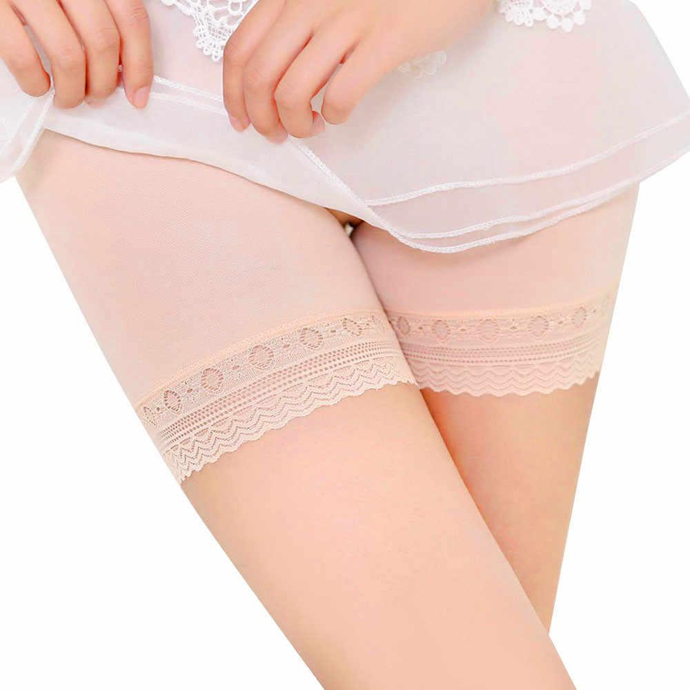 2019 nowy kobiety miękkie bawełniane bezszwowe bezpieczeństwa krótkie spodnie Hot sprzedaż lato pod spodenki spódnica koronki oddychające krótki rajstopy
