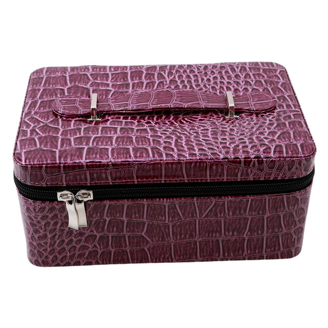84 Bottles Essential Oil Storage Bag Double Zipper Pu Leather Contain Carrying Case Nail Polish